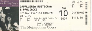 Ticket Sales for Operas