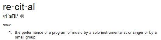 Recital defined
