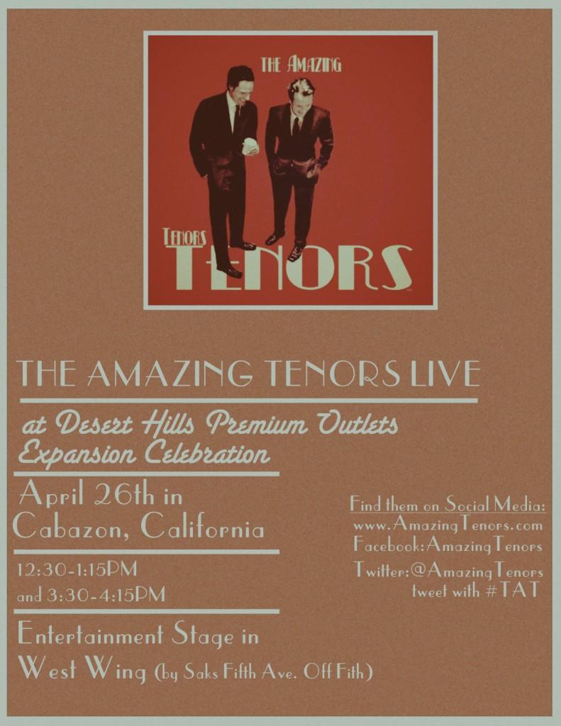The Amazing Tenors:  Opera Entertainment
