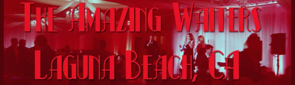 an elegant singing waiter surprise in laguna beach, ca