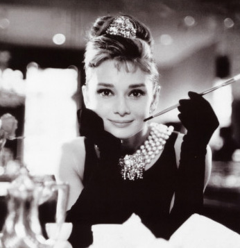 audrey hepburn - black and white photo