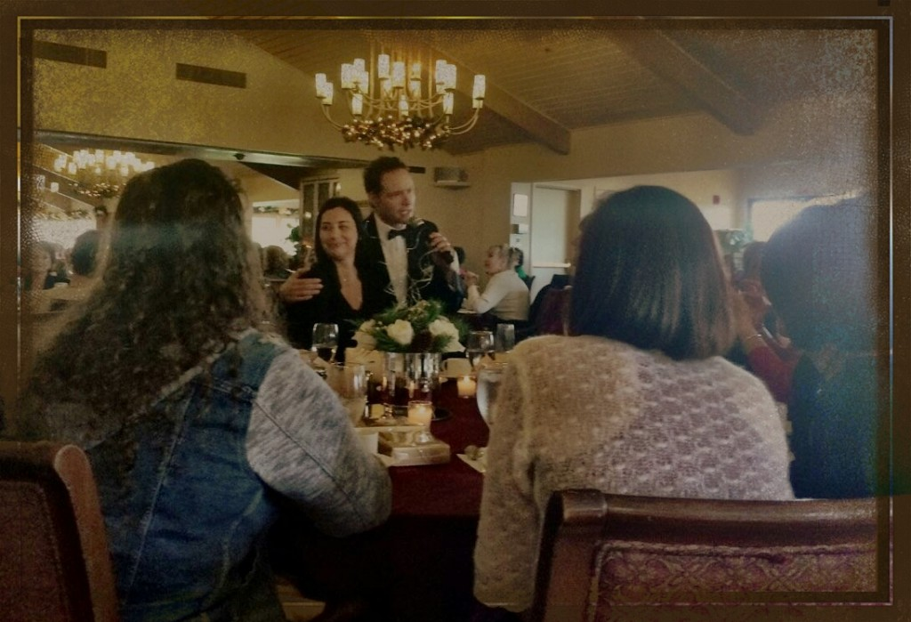 Singing to an unsuspecting luncheon guest in los angeles