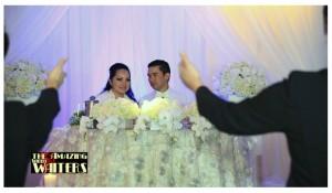 the amazing waiters wedding reception show