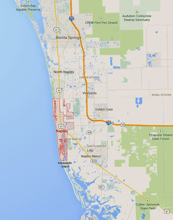 Naples Florida Map Amazing Singing Waiters Blogamazing Singing