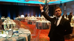 Singing Waiter Surprise Entertainment for events and small parties.